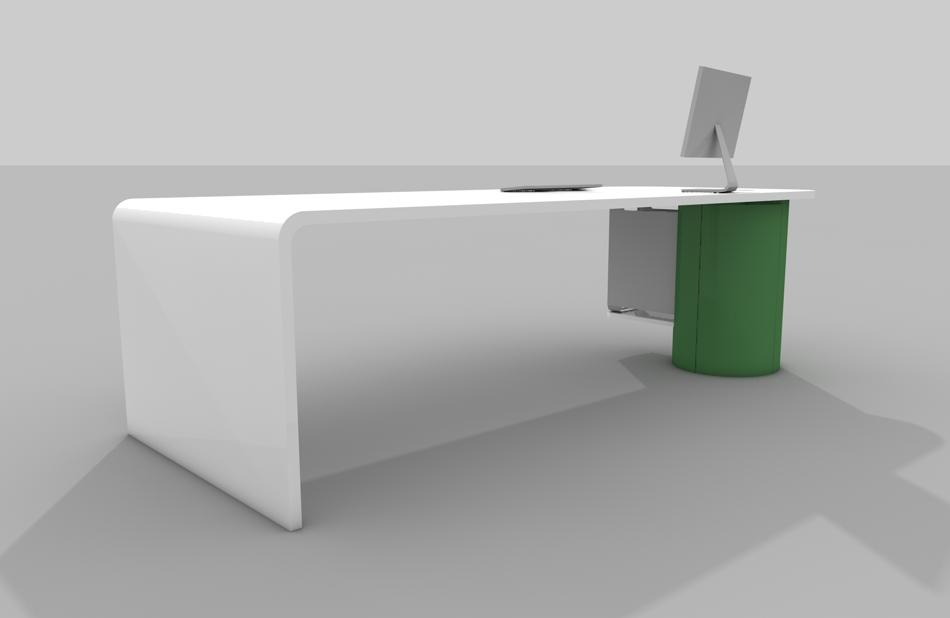 Schreibtisch abgerundete kanten tische f r die k che for Schreibtisch abgerundet