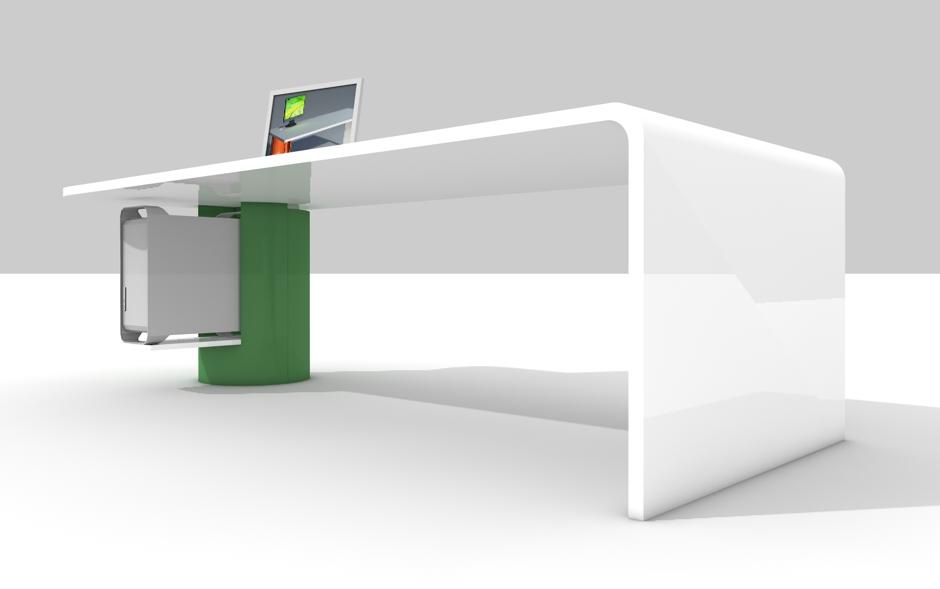schreibtisch abgerundete kanten tische f r die k che. Black Bedroom Furniture Sets. Home Design Ideas